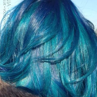 Merci Dounia :) Coloration Cheveux Vert Voodoo Forest et After Midnight - Manic Panic