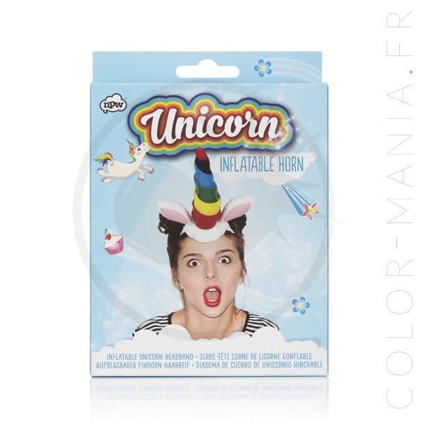 Headband Corne de Licorne Gonflable | Color-Mania