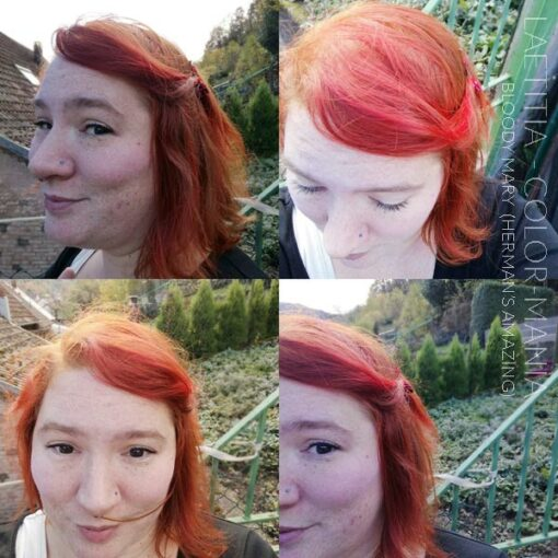 Merci Laëtitia :) Coloration Cheveux Rouge Bloody Mary UV - Herman's Amazing | Color-Mania