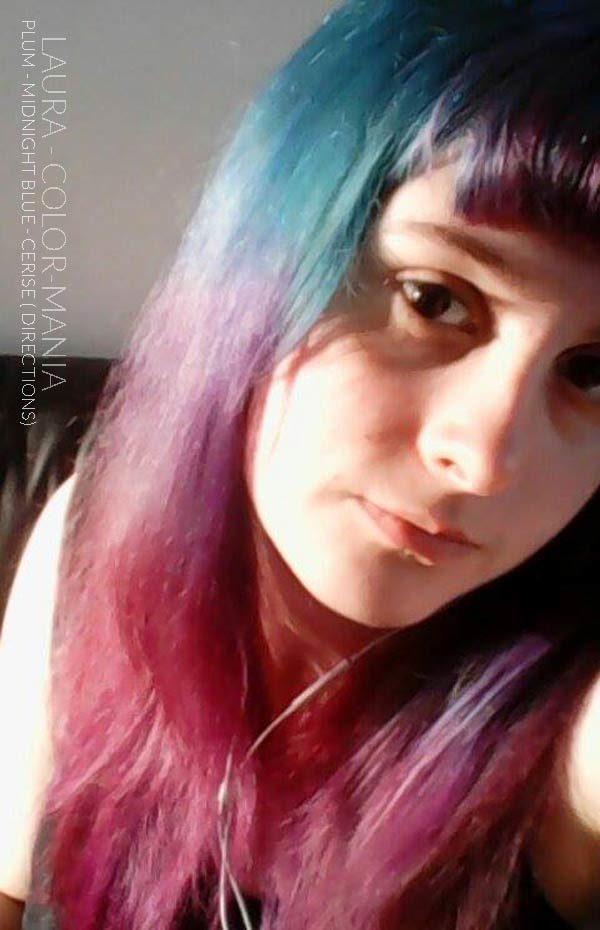 Merci Laura :) Coloration Cheveux Rose Cerise + Prune + Bleu Minuit - Directions