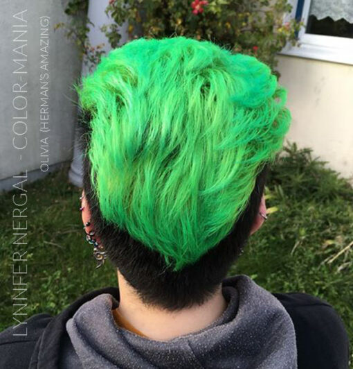 Gracias Lynnfer Nergal :) Color de cabello Verde Olivia Verde UV - Herman's Amazing | Color-Mania