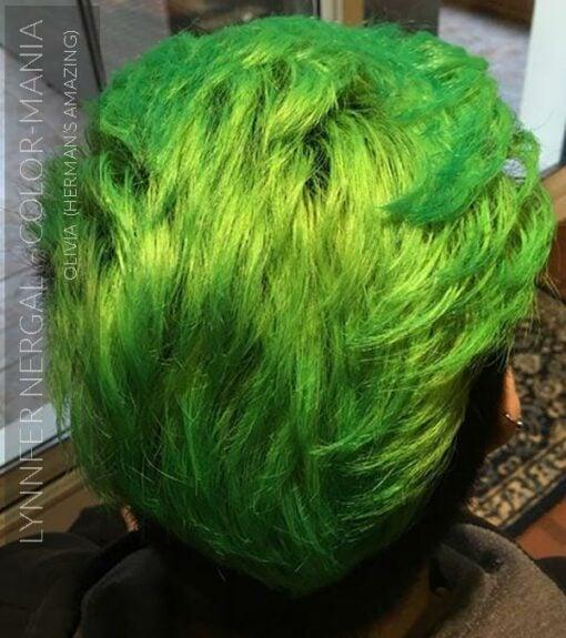 Merci Lynnfer Nergal :) Coloration Cheveux Vert Olivia Green UV - Herman's Amazing | Color-Mania