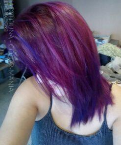 Merci Madylouna :) Restes de coloration Cheveux Rose Cerise + Violet - Directions