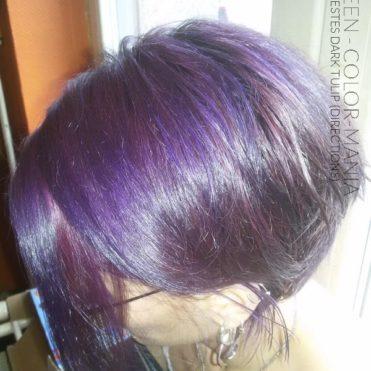 Merci Mazikeen :) Coloration Cheveux Bleu Electrique sur ancienne coloration Tulipe Noire – Directions
