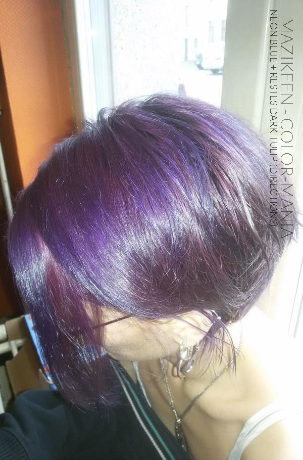 Grazie Mazikeen :) Electric Blue Hair Coloring su Old Coloring Black Tulip - Indicazioni