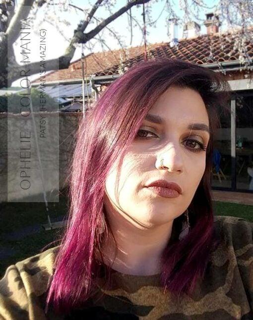Merci Ophélie :) Coloration Cheveux Violet Patsy Purple - Herman's Amazing - Sans décoloration | Color-Mania