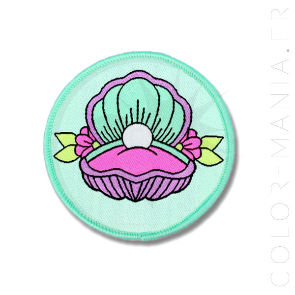 Patch Coquillage Pastel Vert Menthe | Color-Mania