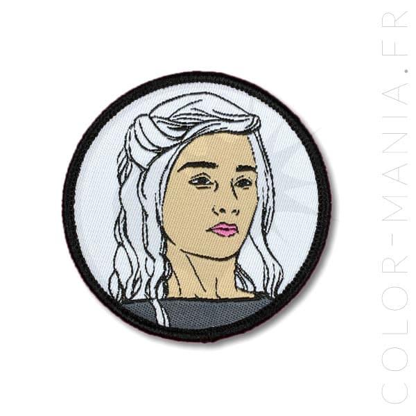 Parche blanco y negro Khaleesi | Color-Mania