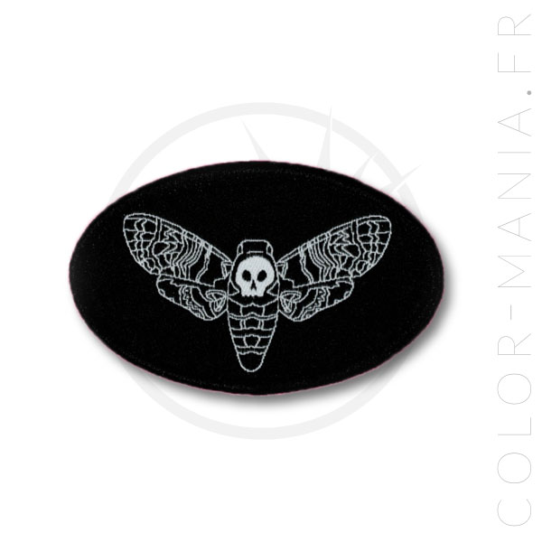 Patch Black Night Butterfly Sphinx Skull | Color-Mania