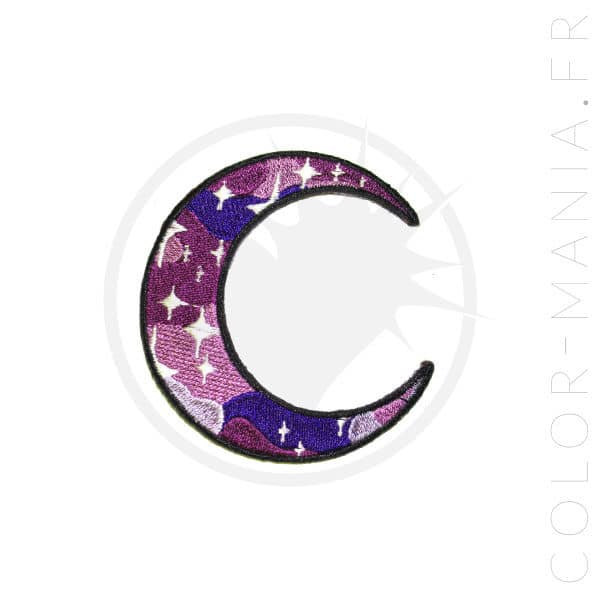 Galaxy Moon Patch Purple | Color-Mania