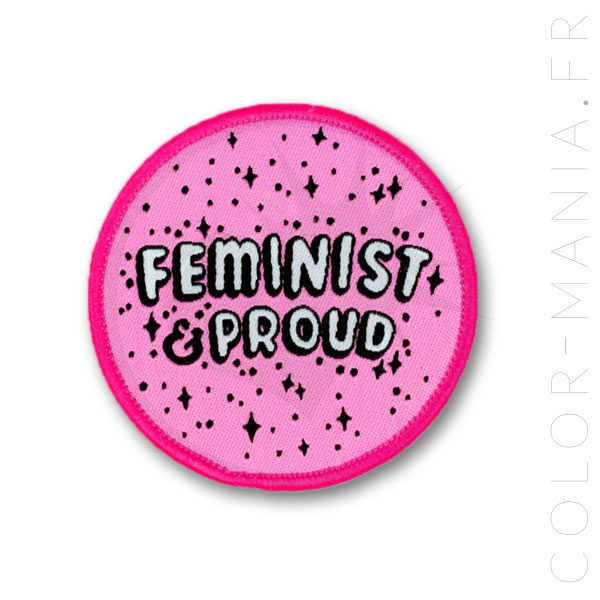 Patch Rose Feminist & Proud | Color-Mania