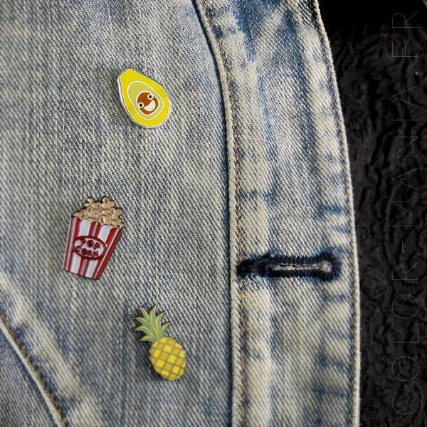 Pin's Happy Avocat Vert et Marron | Color-Mania