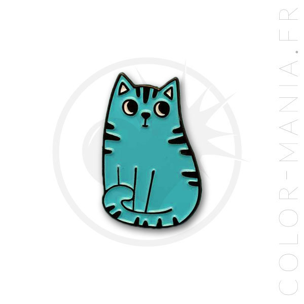 Pin's Chat Tabby Bleu | Color-Mania