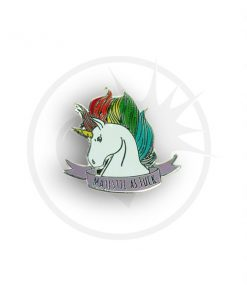 Unicorn Pin Pin Majestic As Fuck | Color-Mania