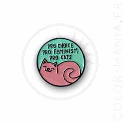 Pin's Pro Cats Rose & Vert | Color-Mania