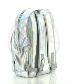 Mochila holográfica de plata de la computadora | Color-Mania
