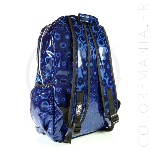 Sac à Dos Ordinateur Holographique Bleu 3D | Color-Mania