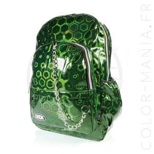 Mochila holográfica ecológica verde 3D | Color-Mania