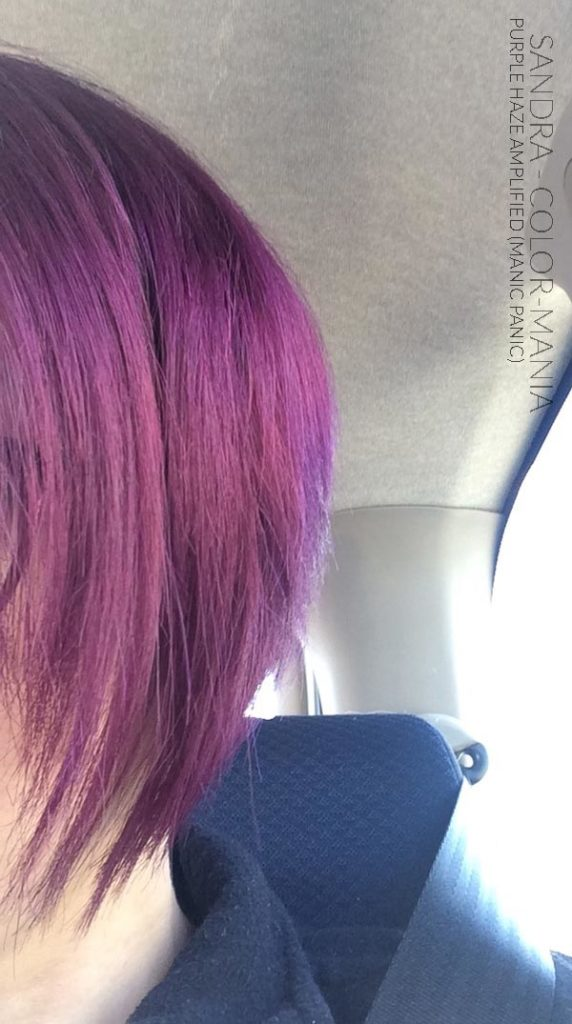 Merci Sandra :) Coloration Cheveux Violet Purple Haze - Manic Panic