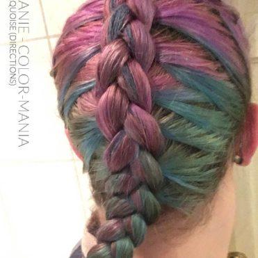 Merci Stéphanie :) Coloration Cheveux Violet et Turquoise après plusieurs shampoings - Directions