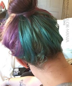 Obrigado Stéphanie :) Purple and Turquoise Hair Coloring - Como Chegar