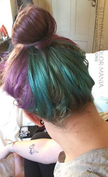 Gracias Stéphanie :) Coloración del cabello morado y turquesa - Direcciones