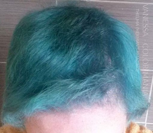 Merci Vanessa :) Coloration Cheveux Bleu Thelma Turquoise - Herman's Amazing   Color-Mania