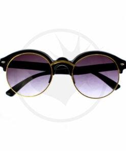 Óculos de sol de armação preta e dourada | Cor-Mania