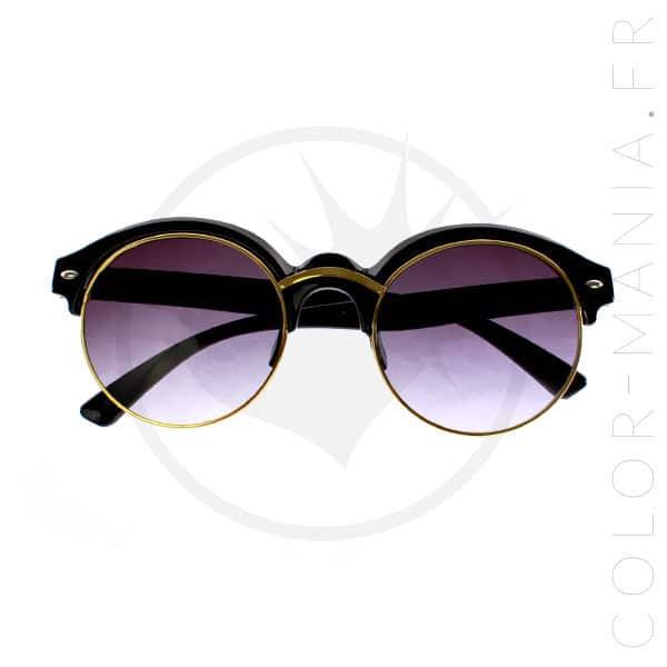 Occhiali da sole a mezza montatura neri e dorati | Color-Mania