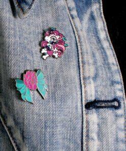 Tatuaje Little Pony Pins y anatómico corazón con arco | Color-Mania