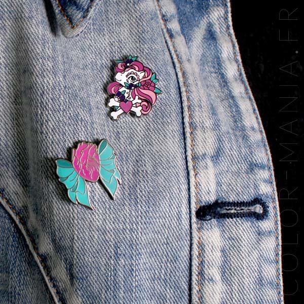 Pin's Petit Poney Tattoo et Coeur Anatomique avec Noeud| Color-Mania