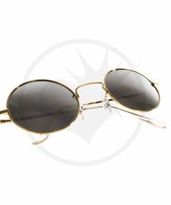 Óculos De Sol Redondos De Ouro - Silver Mirror Glasses | Cor-Mania