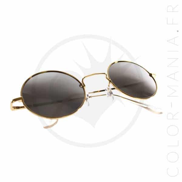 Occhiali da sole rotondi dorati - Occhiali a specchio argento | Color-Mania