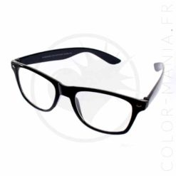Gafas de caminante negro - Gafas transparentes | Color-Mania