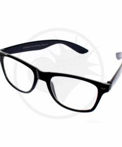 Occhiali Wayfarer neri - Occhiali trasparenti | Color-Mania