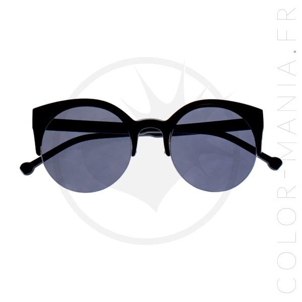Lunettes de Soleil Cat Eye Noires | Color-Mania