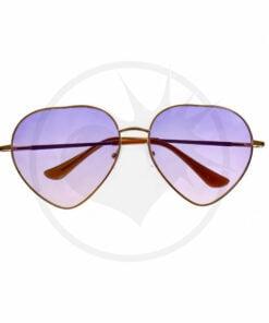 Óculos De Sol De Coração Violeta Sombreado | Cor-Mania