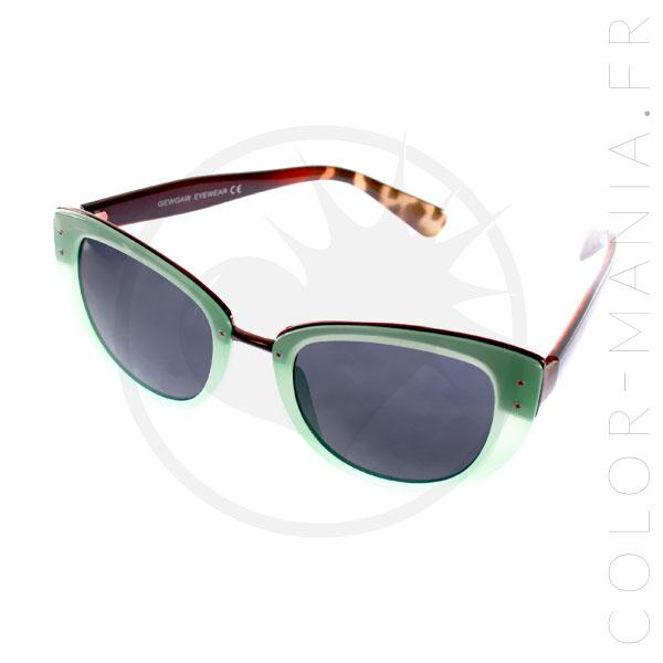 lunettes de soleil cat eye oversize menthe color mania. Black Bedroom Furniture Sets. Home Design Ideas