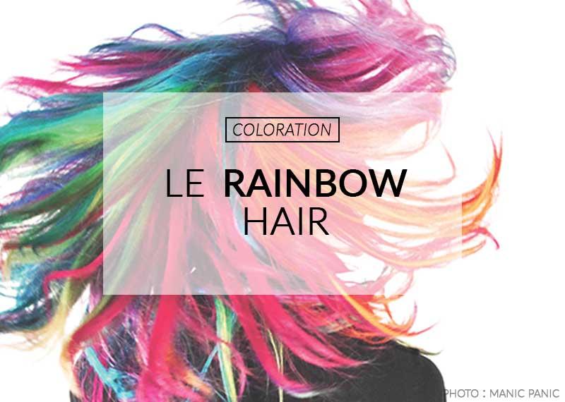coloration rainbow hair