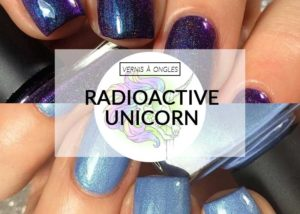 vernis à ongles vegan radioactive unicorn