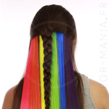 Kit Extensions Cheveux Underlight Hair Arc-en-Ciel - Manic-Panic | Color-Mania