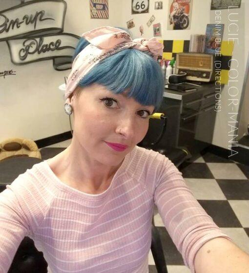 Merci Lucie :) Coloration Cheveux Bleu Denim Blue - Directions | Color-Mania