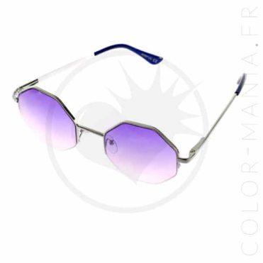 Lunettes de Soleil Octogonales Violettes | Color-Mania