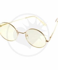 Gafas de sol redondas de gran tamaño amarillas | Color-Mania