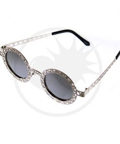 Óculos de Sol Redondos em Prata | Cor-Mania