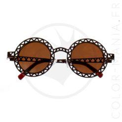 Gafas de sol redondas de cobre caladas | Color-Mania