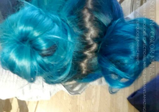 Merci Solenn :) Coloration Cheveux Turquoise - Directions | Color-Mania