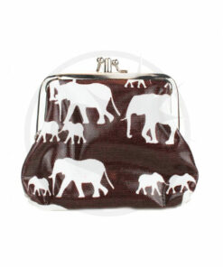 Brown Elephant Printed Retro Wallet | Color-Mania