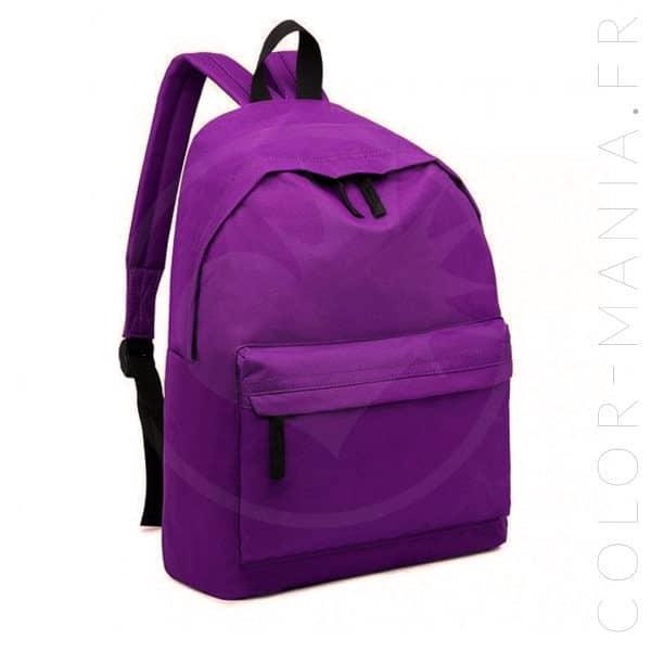Sac à Dos Unisexe Violet   Color-Mania