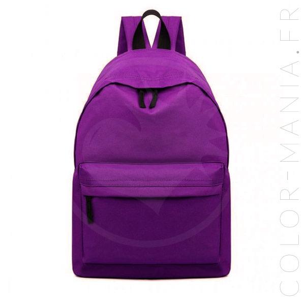 Sac à Dos Unisexe Violet | Color-Mania